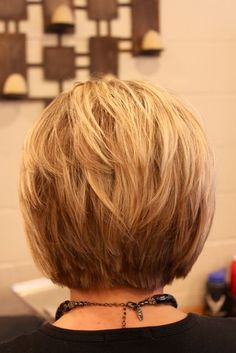 Haircuts: 50 Hottest Bob Hairstyles for 2019 - Bob Hair Inspiration OK neckline - dont' love straight edge, but like the choppines of it. A-Line Bob HaircutOK neckline - dont' love straight edge, but like the choppines of it. A-Line Bob Haircut Short Hair Trends, Short Hair Styles, Bob Styles, Hair Cuts For Over 50, Hair Styles For Women Over 50, Clothes For Women Over 50, Short Hair Back, Stacked Bob Hairstyles, Medium Hairstyles