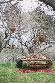 bohemian garden wedding with color - photo by Alexandra Wallace http://ruffledblog.com/bohemian-garden-wedding-with-color