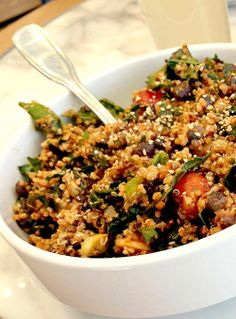 #MeatlessMonday Idea: Quinoa, Kale, Butternut Squash Bowl #vegan #glutenfree Evolution Fresh