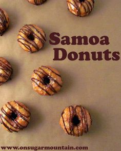 Baked Samoa donuts, inspired by the Girl Scout cookies.