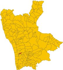 Where I come from....Marano Marchesato (CS) on a map of the Province of Cosenza