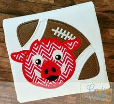 Hog Razorbacks Football Applique - 4 Sizes! | What's New | Machine Embroidery Designs | SWAKembroidery.com Creative Appliques