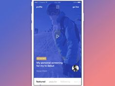 App navigation (WIP) by Cuberto