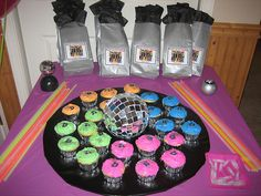 Disco Dance Party  Favors Cake by Kid's Birthday Parties, via Flickr
