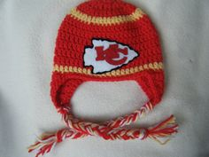 Crochet Pattern Kansas City Chiefs Afghan : Crochet sports things on Pinterest Kansas City Chiefs ...