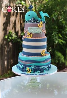 Nautical/Whale baby shower!