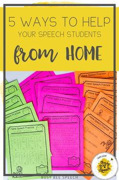 These speech therapy take home pages are perfect to send home with students over an extended break or for weekly homework. These amazing full page practice sheets are perfect to send home with students over an extended break or This product includes activity sets for articulation, fluency, vocabulary, grammar, language concepts, and pragmatics.