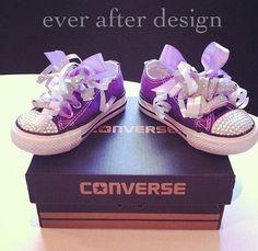 Pink Crystal Rhinestone Custom Converse Shoes Infant