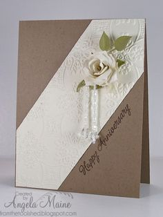 WT441 Kraft Anniversary by Arizona Maine - Cards and Paper Crafts at Splitcoaststampers
