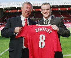 Sir Alex Ferguson secures the services of Wayne Rooney, signed from Everton.