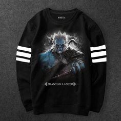 Dota 2 Game Phantom Lancer Sweatshirt Men black Hoodie