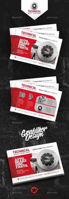 Technical Data Postcard Templates PSD, InDesign INDD