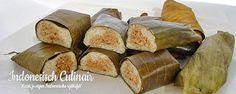 Lemper Daging Sapi - Kleefrijstrolletjes gevuld met gehakt - Sticky rice rolls stuffed with minced meat