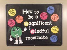 Roommate bulletin board. #RA #bulletinboard #msu                                                                                                                                                                                 More