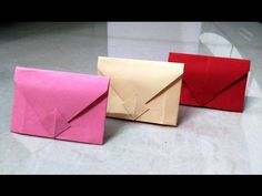 How to make an origami paper envelope | Origami / Paper Folding Craft, Videos & Tutorials. - YouTube