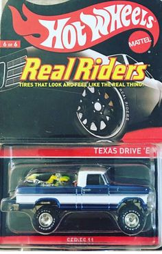 1:64 Scale Hot Wheels Real Riders Series 11 Texas Drive 'em 6 of 6