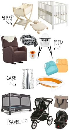 Baby Registry Essentials for New Moms from Lesley Myrick Art and Design #motherhood #babyregistry