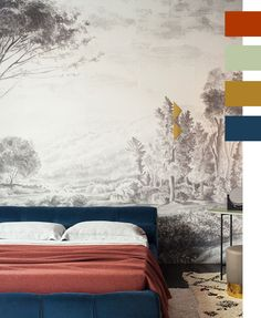 12 Fall Color Palette Trends We're Loving Right Now | rust, sage, gold and blue