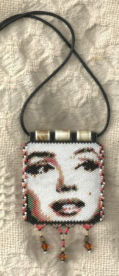peyote beaded Marilyn necklace