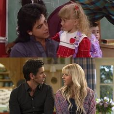 This Picture is so sweet and a reminder of the constant love Jesse had for Stephanie throughout check out their instas and - The official Fuller House Fan Account Full House Memes, Full House Funny, Fuller House Cast, Full House Tv Show, Stephanie Tanner, Dj Tanner, Uncle Jesse, John Stamos, House Fan
