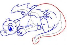 How to Draw a Cute Dragon, Step by Step, Dragons, Draw a Dragon, Fantasy, FREE Online Drawing Tutorial, Added by Dawn, March 4, 2010, 5:20:45 pm