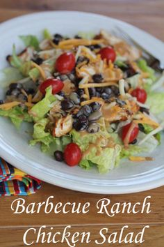 Barbecue Ranch Chicken Salad- Perfect summer meal!