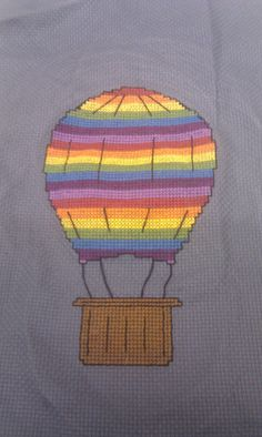 Hot Air Balloon Cross Stitch Pattern PDF by CeleenaCreeCreations, $2.49
