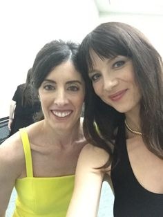 Maril Davis, Executive Producer of Outlander and Caitriona Balfe as Claire Randall Fraser, at the San Diego Comic Con festival - Outlander_Starz Season 3 Voyager - July 21st