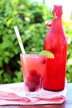 Cherry Limeade Kefir Soda