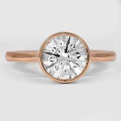 14K Rose Gold Luna Ring // Set with a 1.75 Carat, Round, Super Ideal Cut, J Color, IF Clarity Diamond #BrilliantEarth