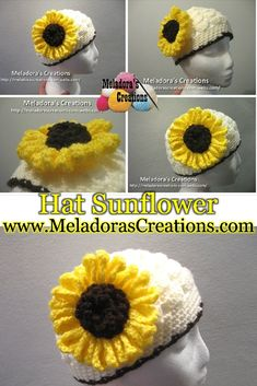 Your place to learn how to Make The Crocheted Sunflower for FREE. by Meladora's Creations - Free Crochet Patterns and Video Tutorials