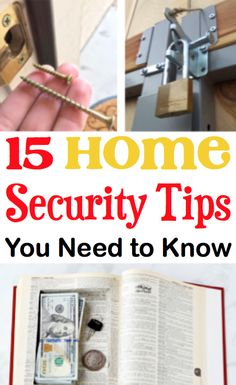 Home Security Tips DIY Door Locks! Cameras and hiding places for apartments plus cameras for home will keep you safe! Home Security Tips, Wireless Home Security Systems, Security Cameras For Home, Security Alarm, Home Safety Tips, Alarm Systems For Home, Home Safes, Own Home, In This World