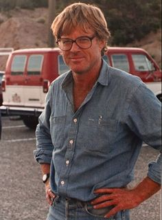 Robert Redford on the set of The Milagro Beanfield War, 1988