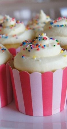 Almond Cupcakes with Vanilla-Almond Buttercream - Just a Sliver