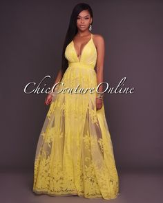 Chic Couture Online - Amabel Yellow Floral Print Nude Tulle Maxi Dress, (http://www.chiccoutureonline.com/amabel-yellow-floral-print-nude-tulle-maxi-dress/)
