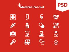 Medical Icon Set by Simple Icon