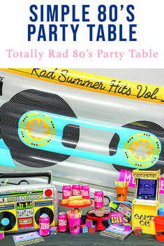 Host a totally rad 80's party with inspiration from Everyday Party Magazine #80sPartyTheme #80sParty #PacManGameConsole #OrientalTradingCompany #Ad #OTC