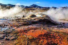 Geisers del Tatio um dos lugares incríveis que visitamos no Atacama com a agência @aylluatacama #NerdsNoAtacama