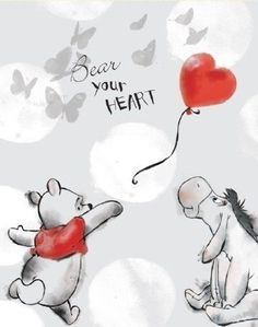 Disney Winnie the Pooh - Pooh Bear Your Heart Canvas Stretched Canvas Print Tigger And Pooh, Cute Winnie The Pooh, Winne The Pooh, Winnie The Pooh Quotes, Winnie The Pooh Friends, Pooh Bear, Eeyore, Winnie The Pooh Pictures, Heart Canvas