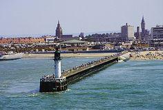 Calais.  Caught the channel ferry here.  Dirtiest beach ever.