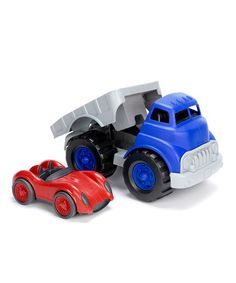 Take a look at this Blue & Red Recycled Flatbed Race Set by Green Toys on #zulily today! $20 !!