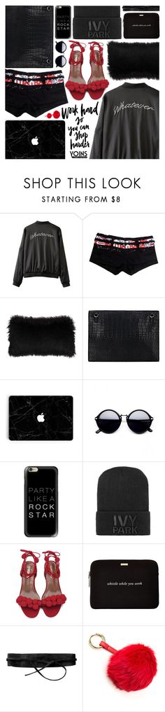 """""""#Yoins #BomberJacket"""" by pastelneon ❤ liked on Polyvore featuring Casetify, Ivy Park, Kate Spade and Lipsy"""