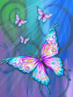 Brianna-My Beautiful Butterfly Butterfly Kisses, Purple Butterfly, Butterfly Cards, Butterfly Gif, Art Papillon, Wallpaper Fofos, Butterfly Wallpaper Iphone, Butterfly Pictures, Butterfly Painting