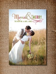 Newlywed Christmas Cards - Just Married Photo Holiday Cards ...