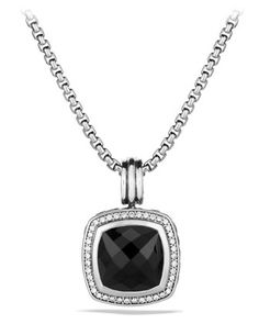 Albion Pendant with Black Onyx and Diamonds by David Yurman at Neiman Marcus.