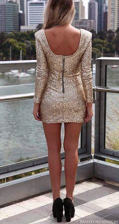 Sparkly Gold Dress - love love love it!