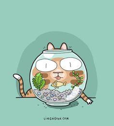 Joyce, Kitty Boo, and Ducky 🤗 I Love Cats, Crazy Cats, Cute Cats, Funny Cats And Dogs, Cats And Kittens, Cat Comics, Funny Comics, Funny Doodles, Kitten Photos