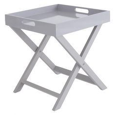 OKEN Grey folding side table - Great side table which can be folded down when not in use. Can also be teamed with the Habitat AFRICA Grey directors chair. #Home #Decor #Furniture