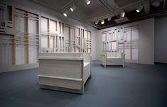 scott carter deconstructs walls to build furniture + sculptures