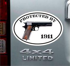 Heavily Armed Easily Pissed Decal Car Decal Warning Sticker Nd - Custom gun barrel stickersgun decals shotgun barrel sticker shooting ammo decal